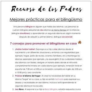 Mejores practicas para el bilinguismo