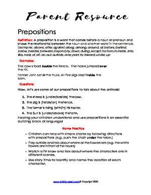 Prepositions (English & Spanish)