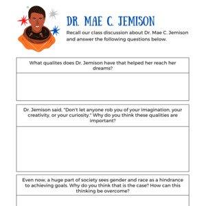 Dr Mae C Jemison