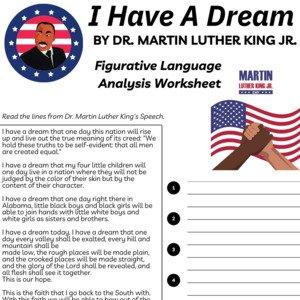 I Have A Dream MLK Figurative Language