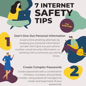 Internet Safety Tips Infographics