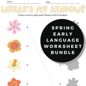 Spring Early Language Worksheet