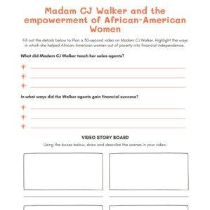 Madam CJ Walker Worksheet