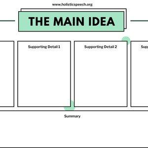Main Idea Dots Graphic Organizer