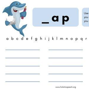 Shark CVC Worksheet