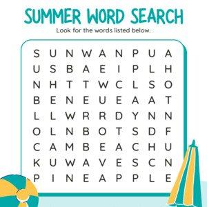 Summertime Worksheet Bundle