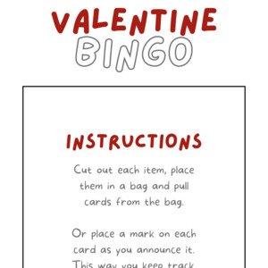 Valentines Day Bingo Printable